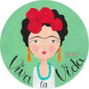 "Spilla illustrata ""Frida"""