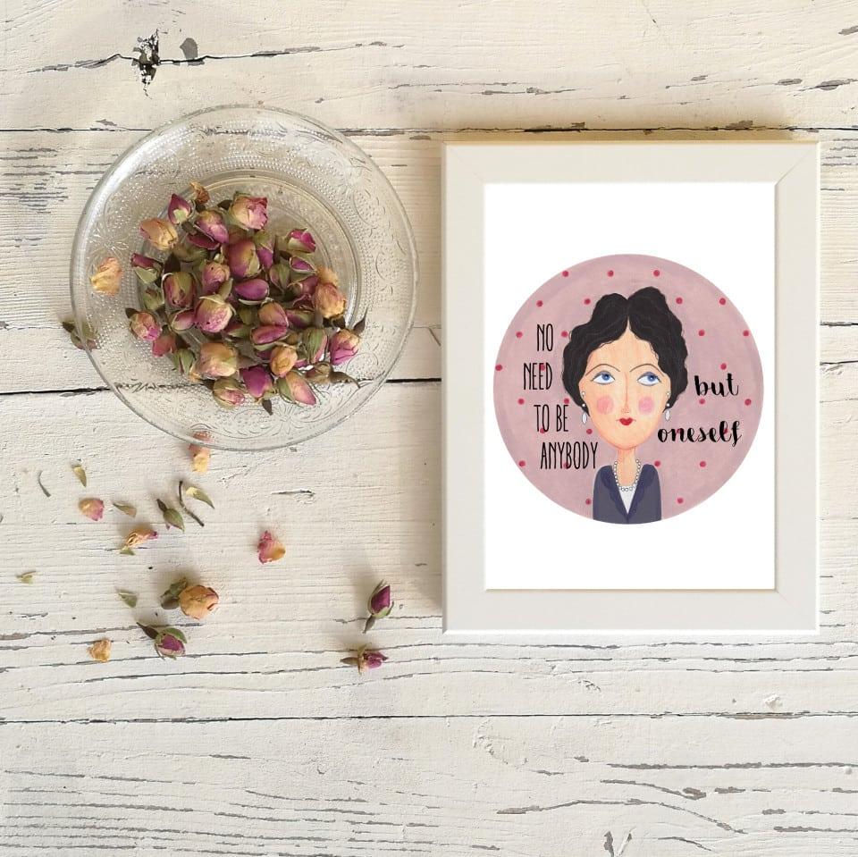"""Quadretto """"Virginia Woolf"""" 13 x 18"""
