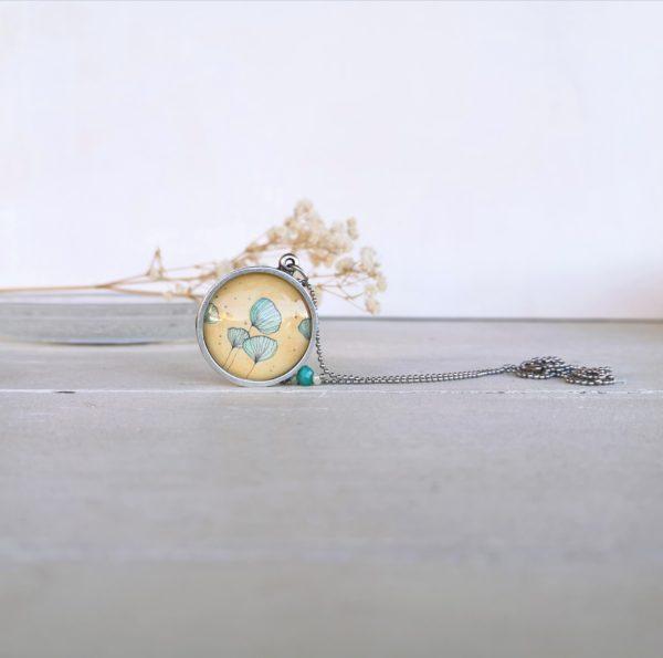 Pendente illustrato fiore di loto