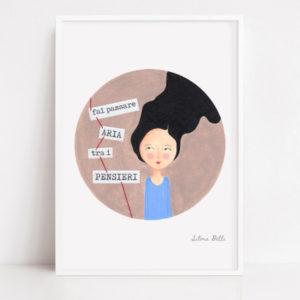 illustrazione con cornice messaggio ispirante