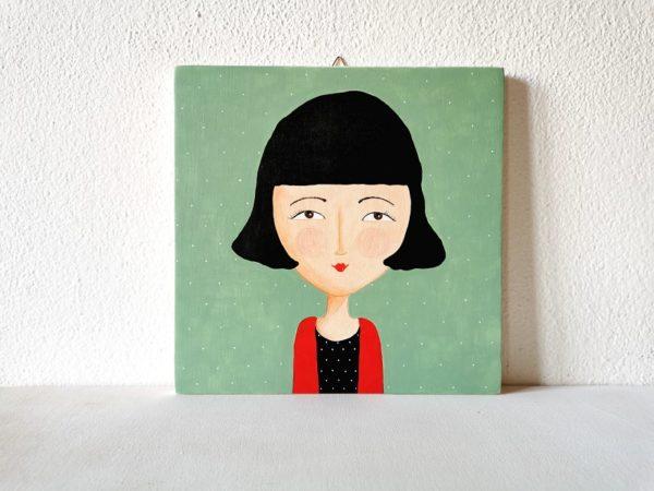 Amélie Poulain, ritratto su legno