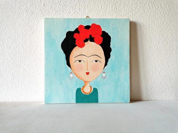 Frida Kalho dipinto su legno